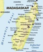 Bootscharter Madagaskar: Landkarte